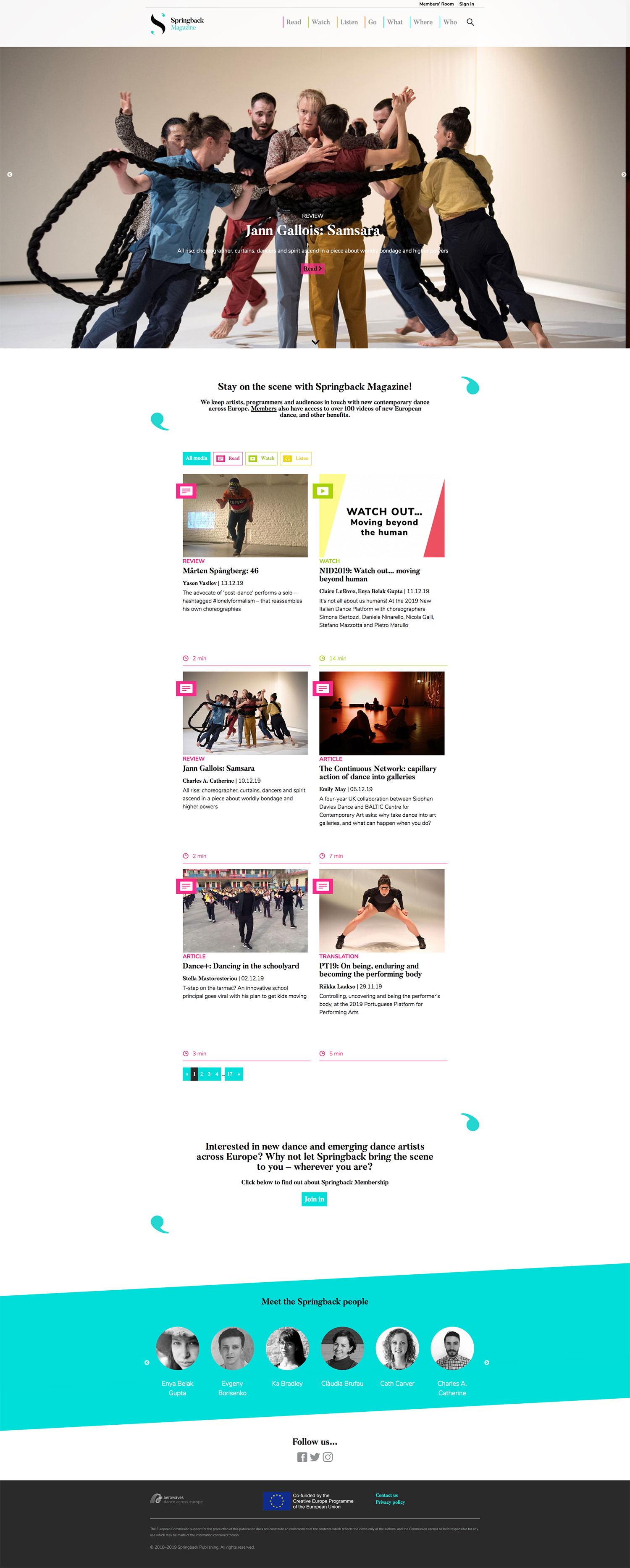 Springback magazine wordpress design