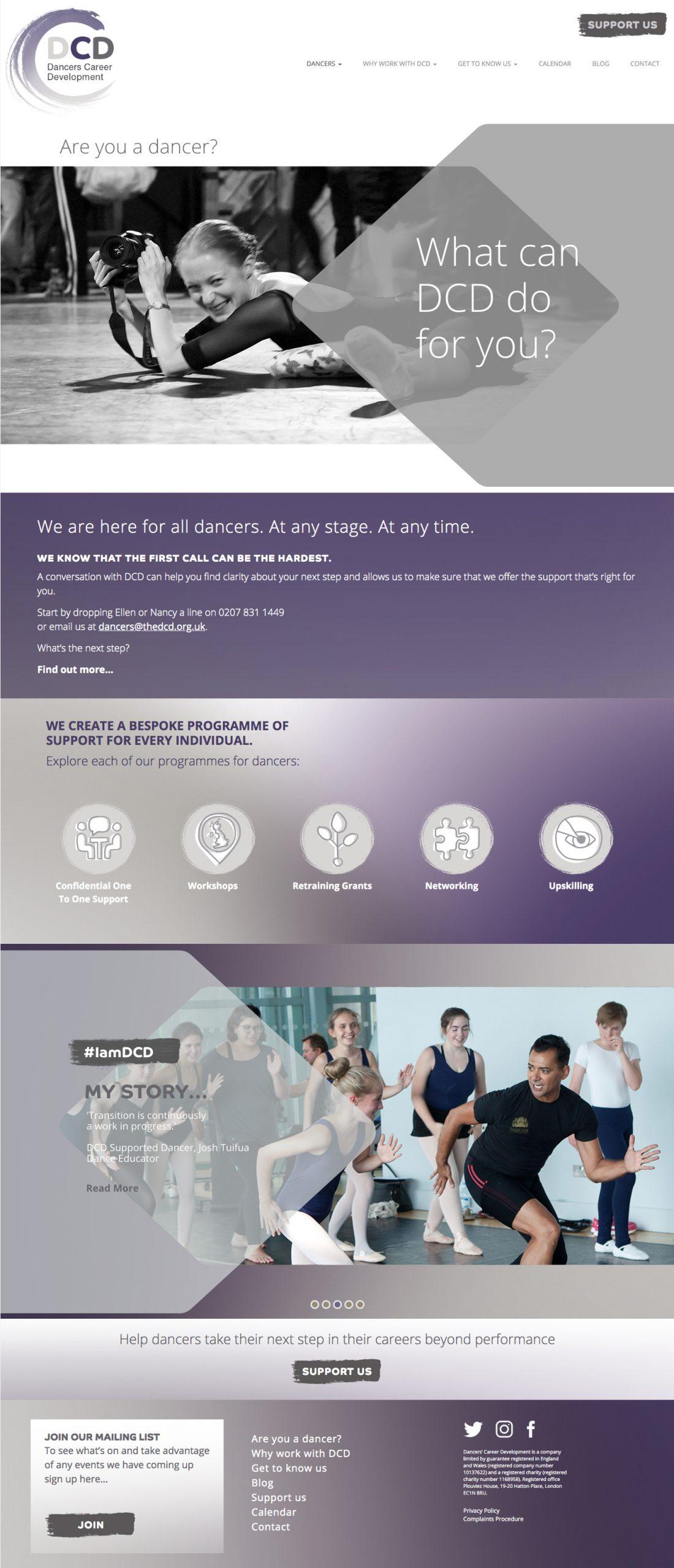 dancers career development wordpress website
