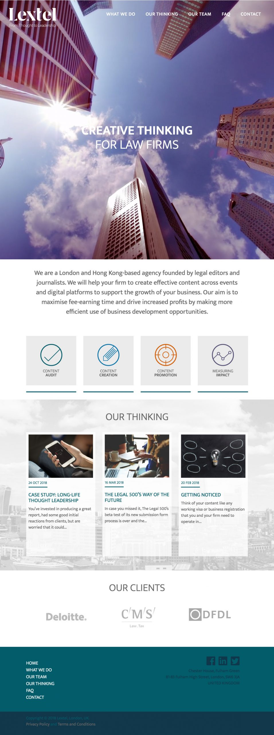 Lextel Partners wordpress website